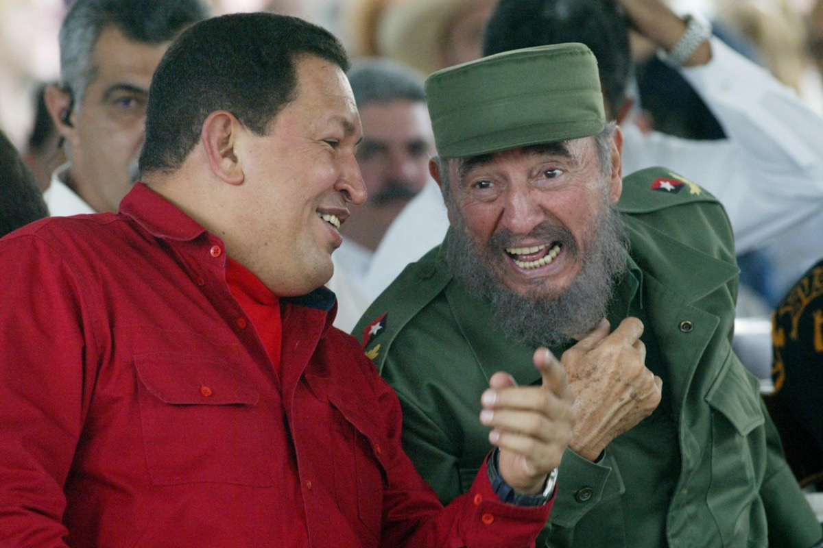 Venezuelan President Hugo Chavez Pictured With Fidel Castro As He Visits The Havana International Book Fair In Havana Cuba On March 2 2006 Credit Jorge Rey Mediapunch Quillette